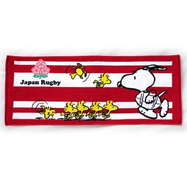 【ラグビー日本代表】スヌーピーコラボ フェイスタオル [2274-11790]【1枚までメール便(ゆうパケット)対応可】