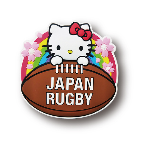 【ラグビー日本代表】ハローキティ マグネット[ボール]