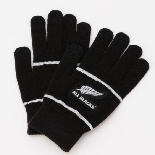 【ALL BLACKS】オールブラックス スマホ対応手袋 [AB31927]