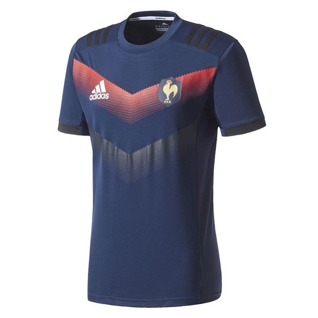 【アディダス】フランス パフォーマンスTシャツ(サイズ:M~2XO)[BJ9375]