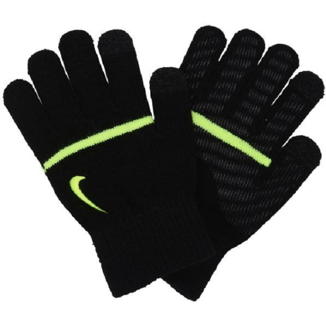 【ナイキ】キッズストライプ 手袋 (カラー:ブラック・ライトブルー)[CW3012]