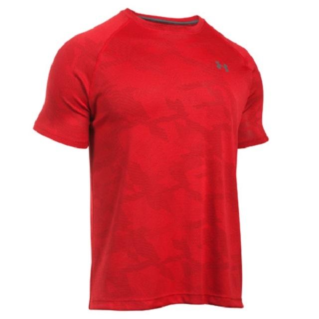 【アンダーアーマー】ジャカード テックTシャツ(カラー:ホワイト、ブルー、レッド/サイズ:SM~XXL)