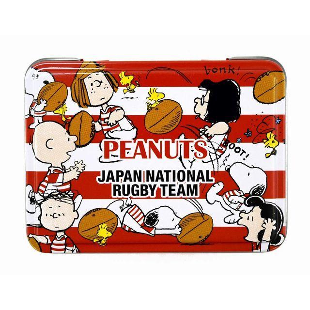 【ラグビー日本代表】スヌーピーコラボ 缶入りWクリップ(4柄×2個入り)