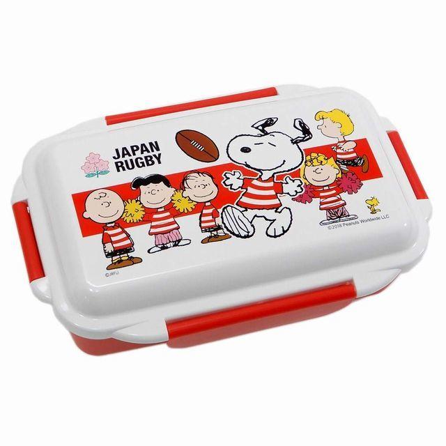 【ラグビー日本代表】スヌーピーコラボ 4点ロック ランチボックス(仕切り付)