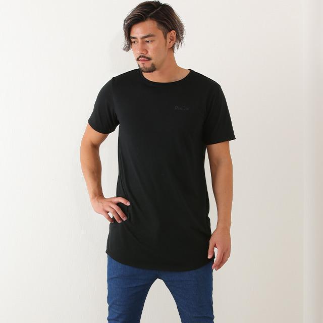 【50%OFF!】ベーシック ショートスリーブ ロング丈Tシャツ《ペネトア(PeneTO'A)×SY32コラボ》 ペネトアロゴ入りシンプルTシャツ