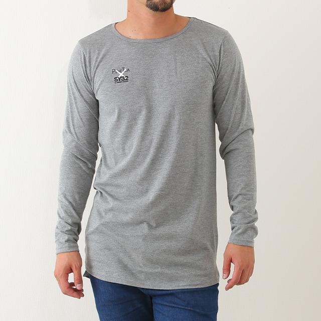 【50%OFF!】《ペネトア(PeneTO'A)》ベーシック ロング丈長袖Tシャツ
