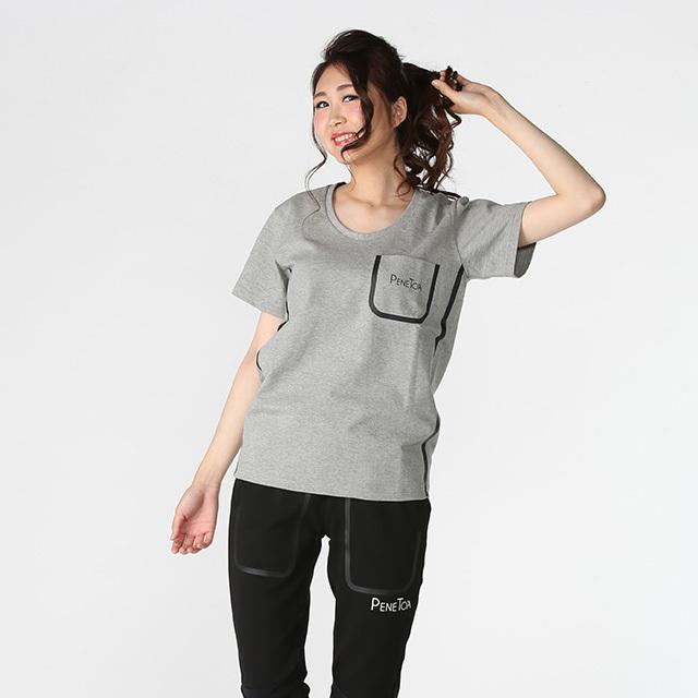《PeneTO'A×SY32》ワンポイントロゴU襟ポケットTシャツ