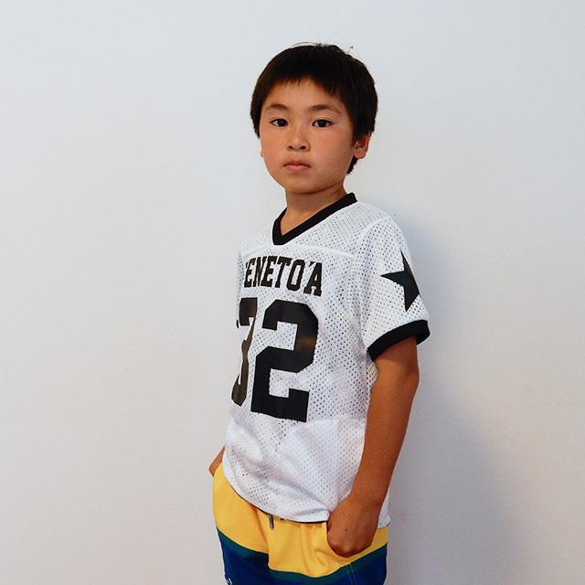 【50%OFF!】キッズサイズ《ペネトア(PeneTO'A)×SY32コラボ》メッシュ リバーシブル  Tシャツ 【MESH REVERSIBLE T-SHIRT】