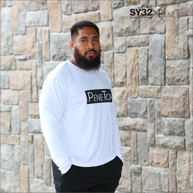 【50%OFF!】《ペネトア(PeneTO'A)》 ボックスロゴ 長袖Tシャツ[ホワイト・グレー・ブラック/S-4XL]