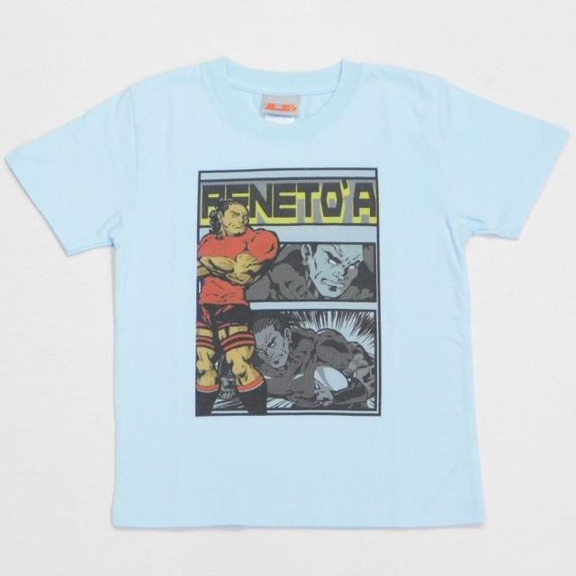【PeneTO'A】アメコミ調デザインキッズTシャツ(カラー:ライトブルー、ライトベージュ / サイズ:130~160)[PT3016]【1着までメール便(ゆうパケット)対応可】