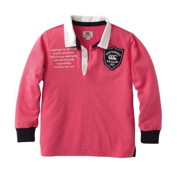 【カンタベリー】(キッズ)ロングスリーブラガーシャツ(110~140)【※セール品の為、購入後の返品交換不可】