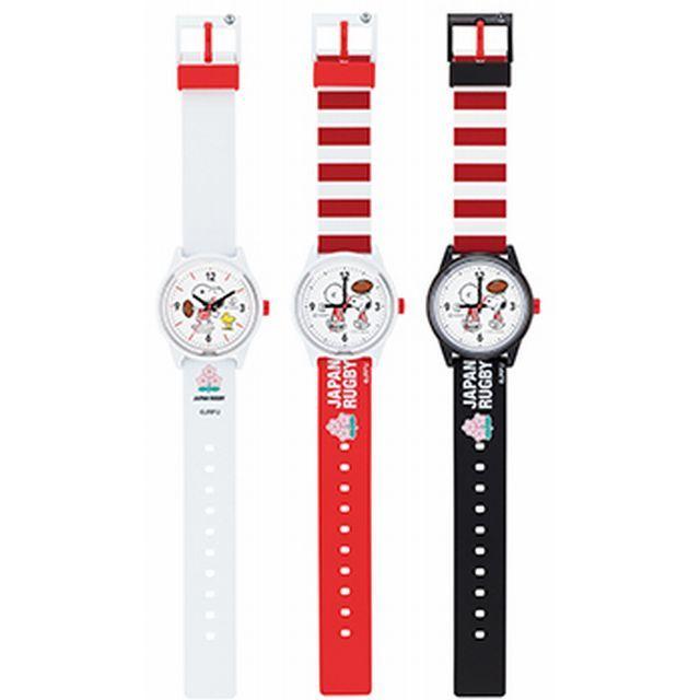 ラグビー日本代表×Q&Q SmileSolar×スヌーピー トリプルコラボ腕時計【全3色】