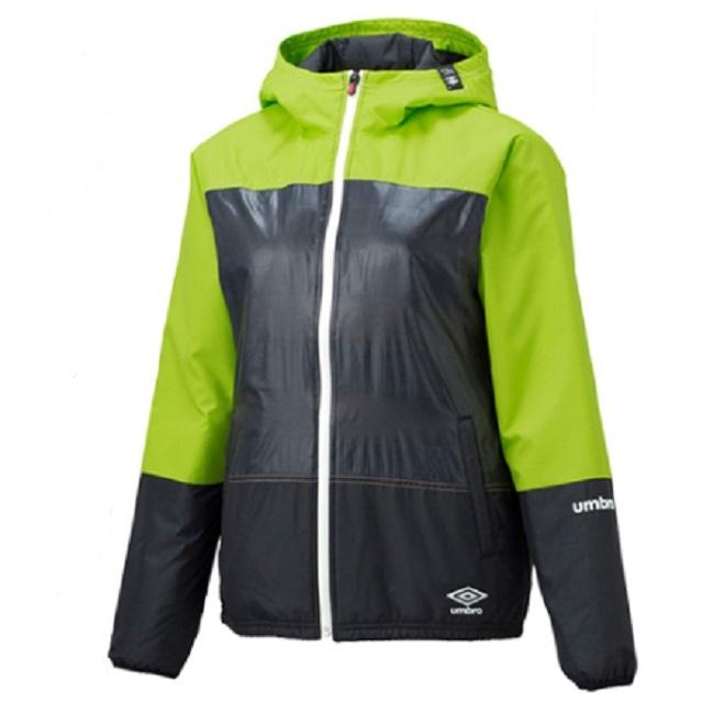 【アンブロ】(レディース)ウィンドジャケット(カラー、サイズ:グリーン×ブラック L、ピンク×ブラック M)[UCA4556W]