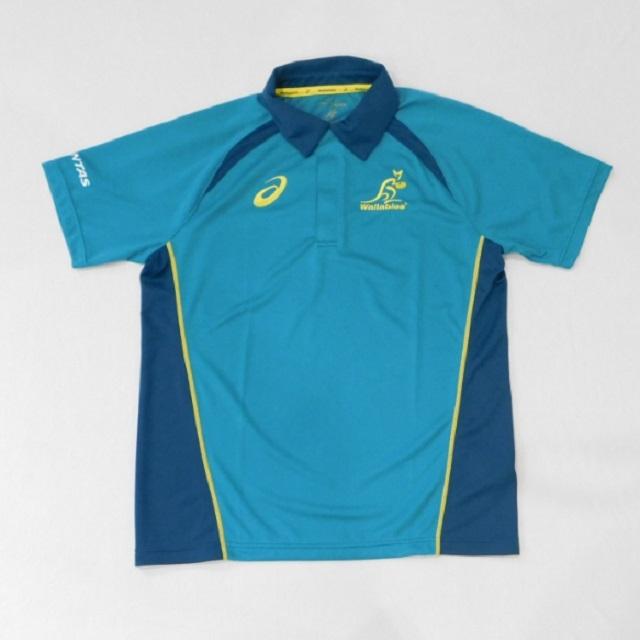 【アシックス】オーストラリア代表 ワラビーズ 2017 レプリカトレーニングポロシャツ