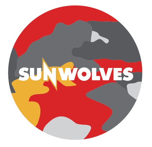 【SUNWOLVES】缶バッジ(迷彩)[Button badge]