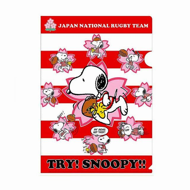 【ラグビー日本代表】スヌーピーコラボ A4クリアファイル
