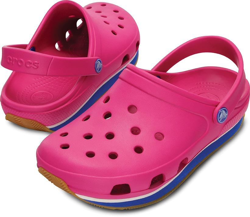 クロックス レトロ クロッグ フューシャ/シーブルー crocs retro clog fuchsia/sea blue