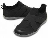 クロックス スウィフトウォーター クロス ストラップ スタティック ウィメン  ブラック crocs swiftwater cross strap static women black