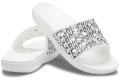classic crocs logo motion slide white/black クラシック クロックス ロゴ モーション スライド ホワイト/ブラック 206124_103