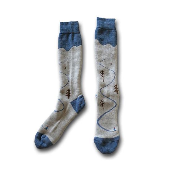 rulezpeeps (ルールズピープス) 18RZ0056 Merino Wool Socks Snow メンズ・レディース対応