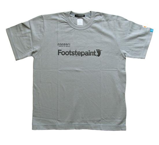 Bonzaipaint バンザイペイント panzeri × Bonzaipaint Footstepaint LOGO TEE