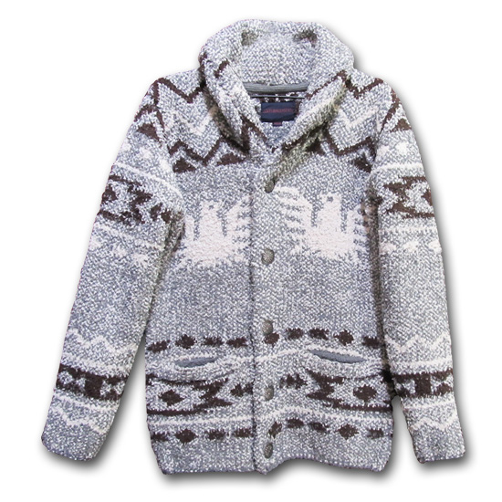 ANTIBALLISTIC 172-AN5167 Shawl Collar Knit Jacket