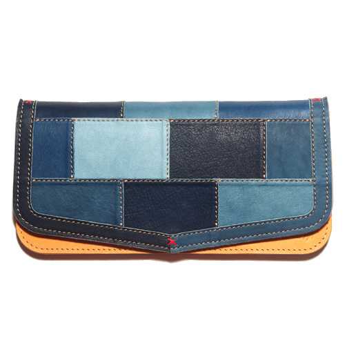 The Rosetta Stone ロゼッタストーン  ID-WL-105 Indigo Leather Patch Long Wallet