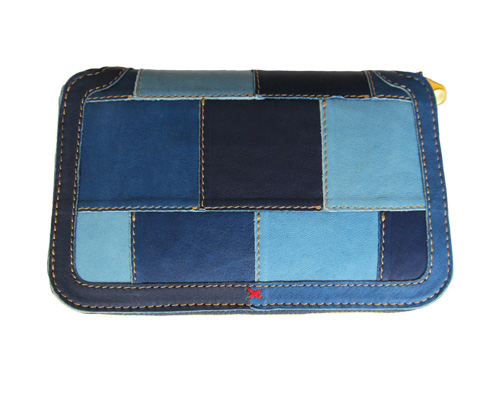 The Rosetta Stone ロゼッタストーン ID-WL-102 Indigo Leather Patch Middle Wallet