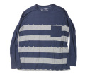 rulezpeeps (ルールズピープス) 16RZ0108 Smile Wool Wave Border Long Sleeve Tee