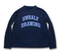 UNHALF DRAWING 【アンハーフ ドローイング】 UNHALF DRAWING LOGO SWEAT CREW
