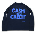 海千山千會 UNHALF DRAWING 【アンハーフ ドローイング】 CASH FROM CREDIT SWEAT CREW