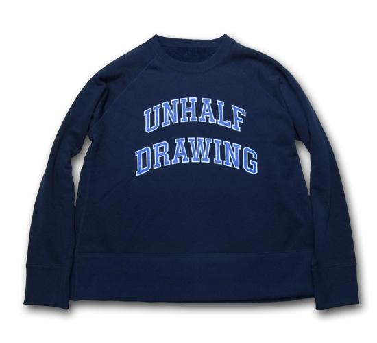UNHALF DRAWING 【アンハーフ ドローイング】 UNHALF DRAWING LOGO SWEAT CREW