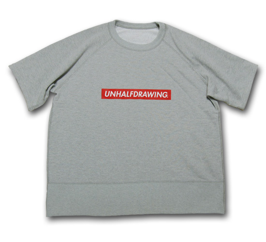 海千山千會 UNHALF DRAWING 【アンハーフ ドローイング】 UNHALF DRAWING SWEAT HALF SLEEVE BOX LOGO