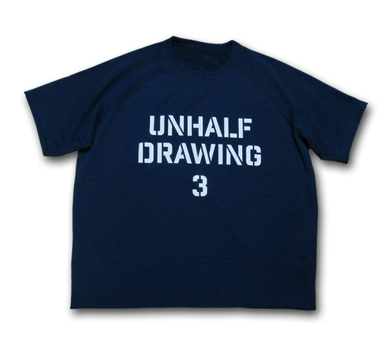 海千山千會 UNHALF DRAWING 【アンハーフ ドローイング】 UNHALF DRAWING SWEAT HALF SLEEVE STENCIL LOGO