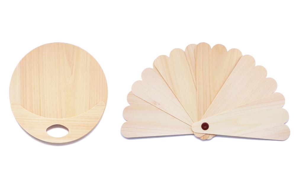 木製うちわ 扇子