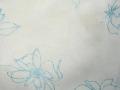 薄手ボイル花柄ラメプリント(アクアブルー)