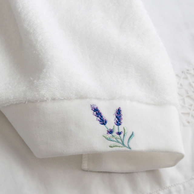 ラベンダー刺繍