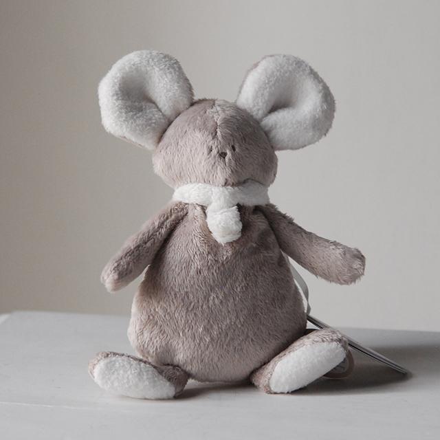 ディンペル Dimpel ネズミぬいぐるみ モナ ベージュ&ブラン ( DI-MONA_OT-OW )