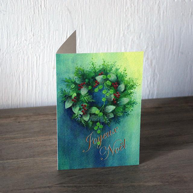 フランジュールのオーナー木崎清美がお届けする、オリジナルのクリスマスカード