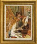 ルノアール【ピアノを弾く二人の少女】P10