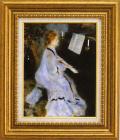 ルノアール【ピアノを弾く若い女】F6