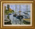 モネ【セーヌ川の帆船】