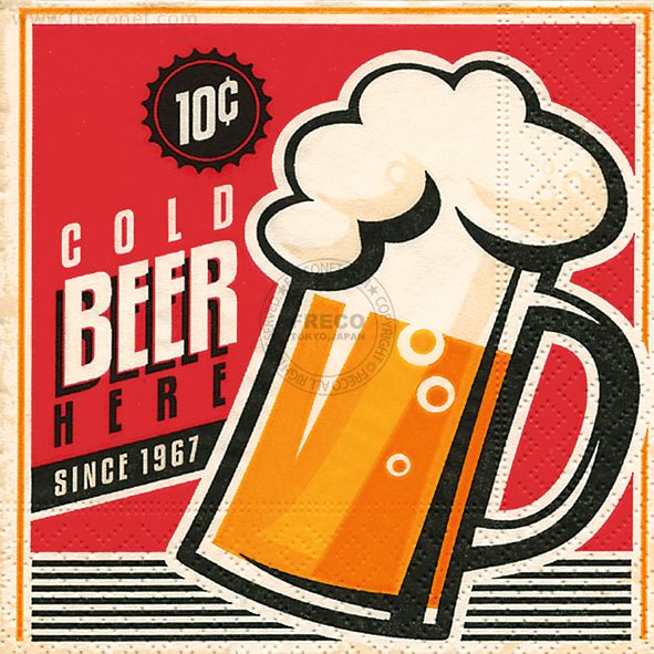 Paper+Design ペーパーナプキン <カクテル> Cold beer(11818)【宅急便配送】