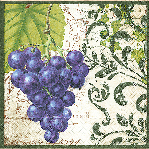 Paper+Design ペーパーナプキン <ランチ> Bunch of grapes(200085)【宅急便配送】