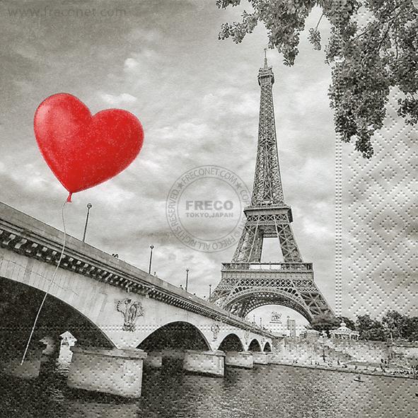 Paper+Design ペーパーナプキン <ランチ> City of love(21819)【宅急便配送】