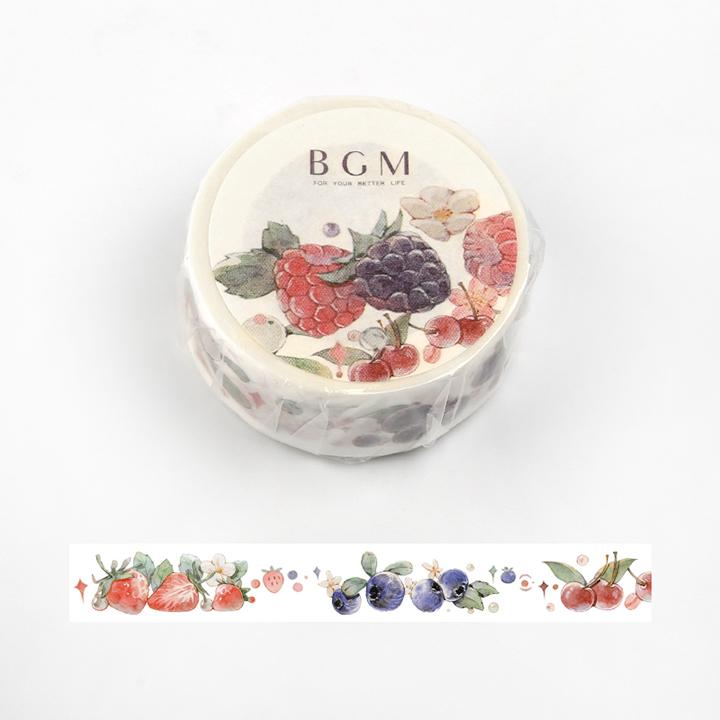 BGMマスキングテープ Life 15mm ベリー(BM-LA036)【ネコポスOK】