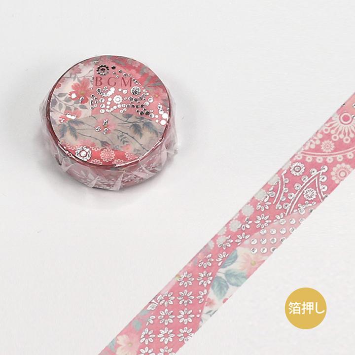 BGMマスキングテープ スペシャル 箔押し 大和物語 浴衣(BM-SPYMT003)【ネコポスOK】
