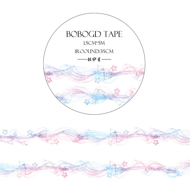 BOBOGDマスキングテープ 軽紗星【ネコポスOK】