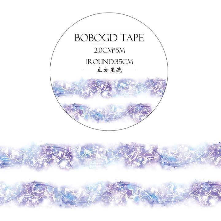 BOBOGDマスキングテープ 立方星流【ネコポスOK】