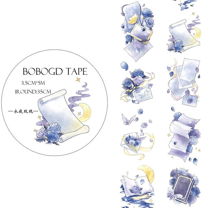 BOBOGDマスキングテープ 永夜薔薇【宅急便配送】